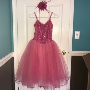 Pink Sequined Dance/Dress-Up Costume
